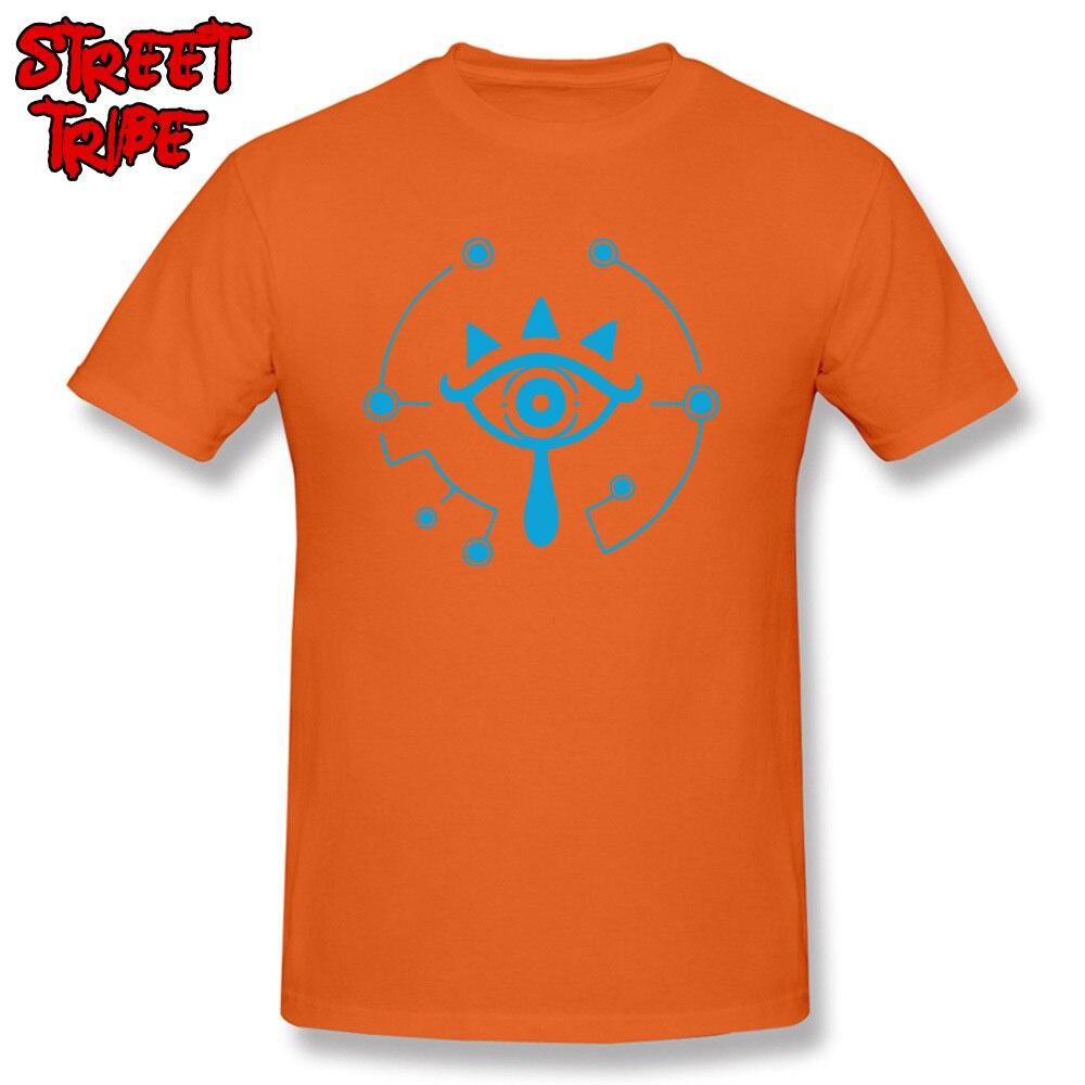 Sheikah Eye Tops Shirt Brand New Crew Neck Gift Short Sleeve 100% Cotton Mens T-Shirt Personalized T Shirt Free Shipping Sheikah Eye orange