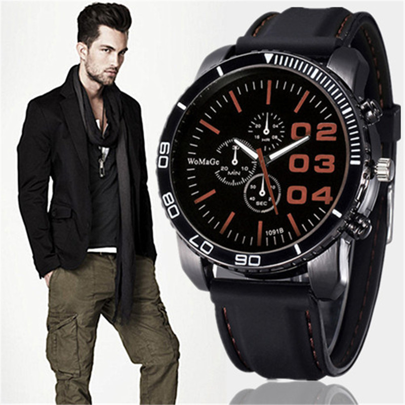 Men's Watches Sport Outdoor Dress Solar Watch Military Silicone Quartz Clock Hours Hot Orologio Uomo