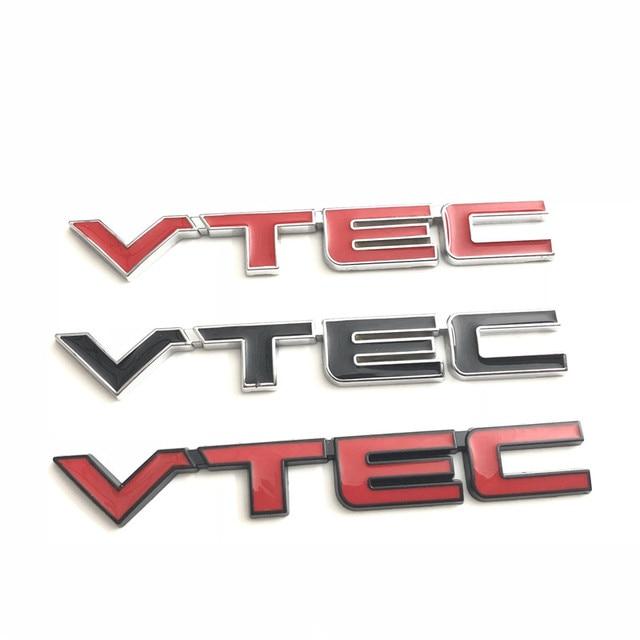 1X High Quality Metal VTEC Logo Emblem Car Body Badge Sticker Decal