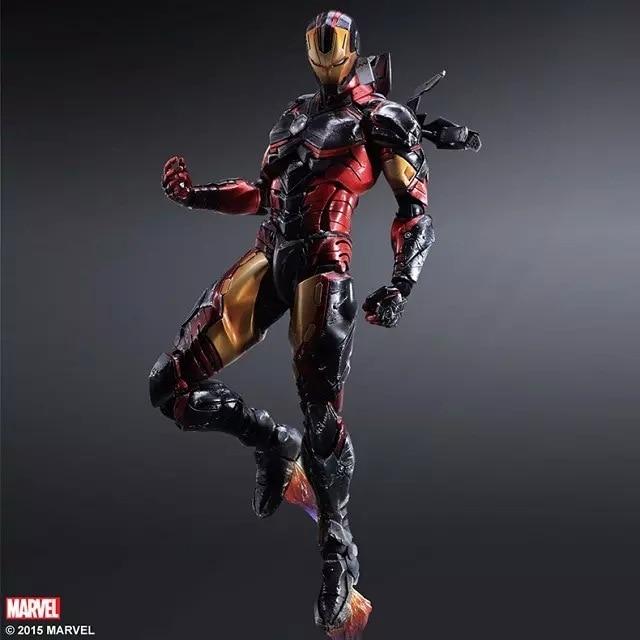 Play Arts Marvel Avengers 25cm Iron Man Civil War Super Hero Ironman PVC Action Figure Toys