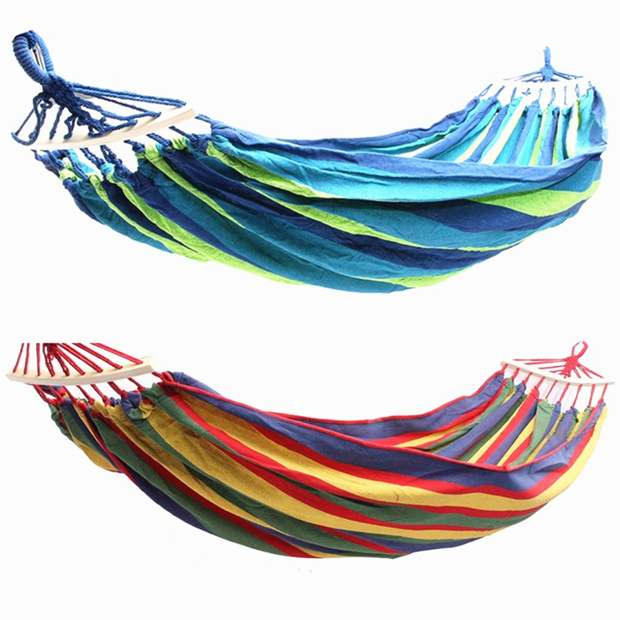Portable Rainbow Outdoor Camping Hammock Garden Swing Hanging Hammock Chair