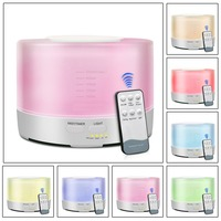 500ML Remote Control LED Air Humidifier Home Office Ultrasonic Cool Mist Steam Nebuliser Quiet Diffuser Purifier Mist Maker