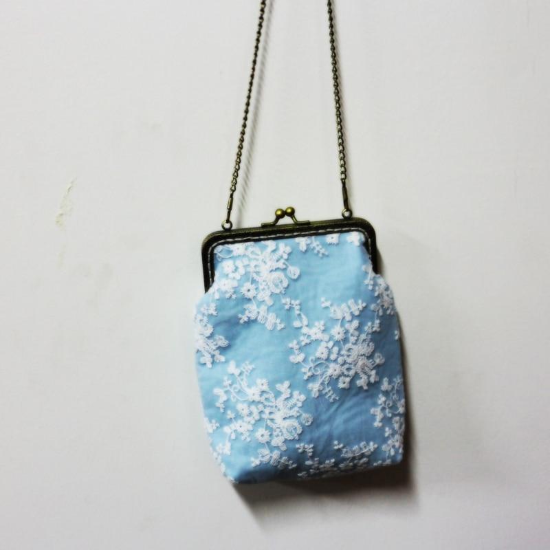 Women Diy handbag lace decoration with metal clasp Women's Evening Bags