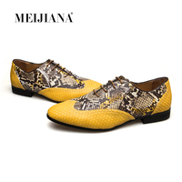 MeiJiaNa Top quality Leather Men Dress Shoes, Brand Man Business Oxfords Shoes