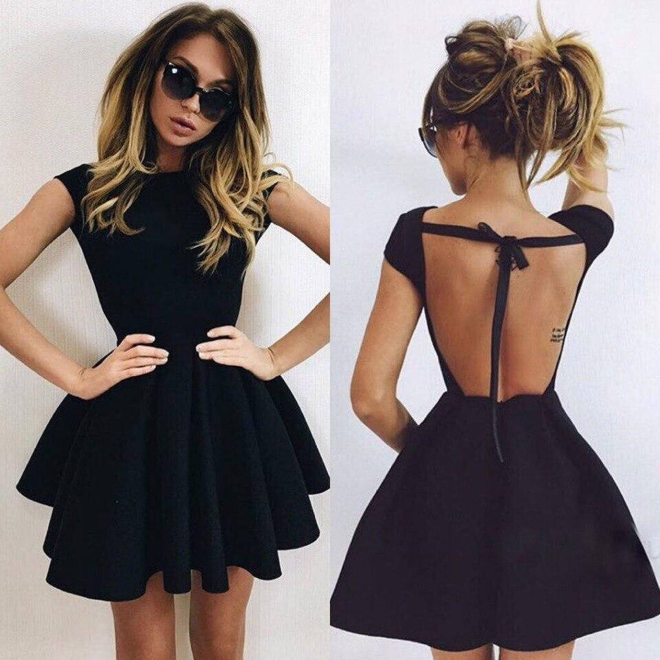 Black modern dress - Modern Mini Black 2016 Cocktail Dress Jewel Neck Prom Party Gown China Mainland