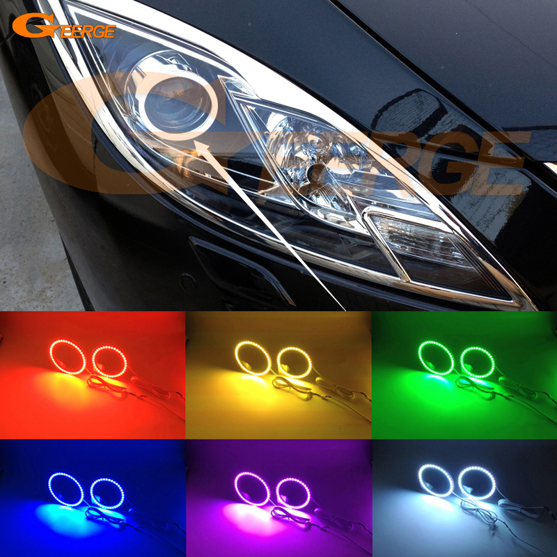 For mazda 6 Mazda6 MK2 2008 2009 2010 2011 2012 Ruiyi Excellent RGB Angel Eyes Multi-Color Ultra bright LED Angel Eyes kit for mazda 6 mazda6 mk2 2008 2009 2010 2011 2012 ruiyi excellent ultra bright illumination ccfl angel eyes kit halo ring