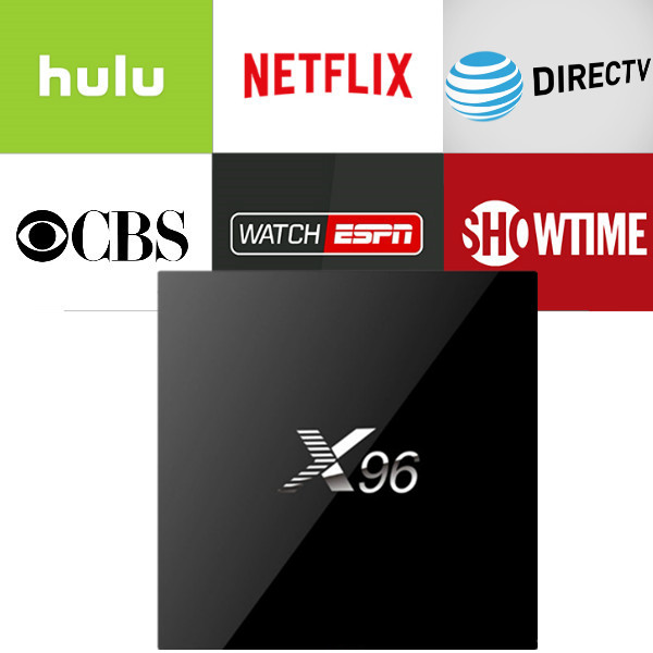 X96 2G16G Android IPTV Box with 1 year Netflix/HULU/Directv/CBS account warranty work in Set top box Smarttv smartPhone excook cbs 33