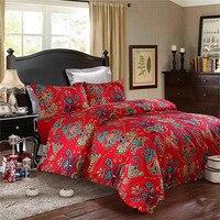 40s Egyptian Cotton Sateen Elle Garden Bedding Set Doona Duvet Cover Flat Sheet Pillow Case 4pcs
