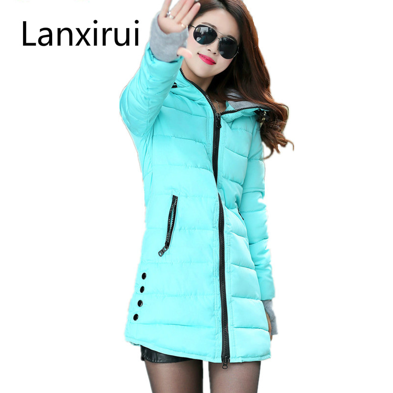 Winter Coat Women   Parka   2018 Hooded Warm Cotton Padded Girl Student Long Jackets Overcoat abrigos mujer invierno chaquetas
