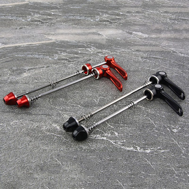 1 Pair Bicycle Skewers High-strength Steel Quick Release Road Bike Front Rear Wheel Skewer <font><b>Light</b></font> Weight MTB Bicycle Axle Parts