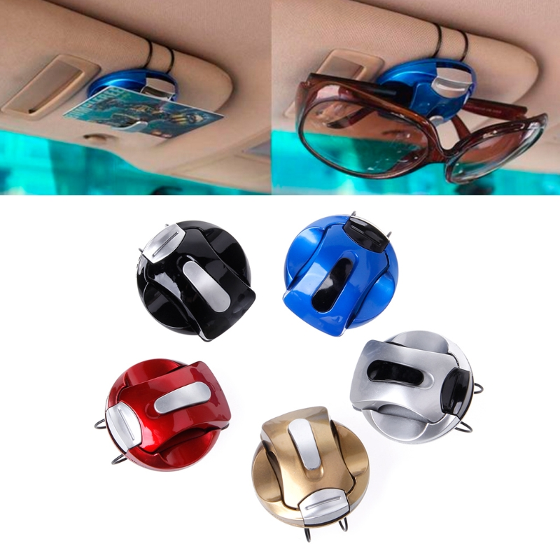 Car Auto Sun Visor Fastener Clip Glass Holder Eyeglass Ticket Receipt Card Clip