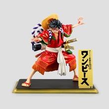 One Piece Anime Kabuki Edition Luffy PVC Action Figure Kids Toys Figuras Monkey D Luffy Anime Collectible Brinquedos 19cm