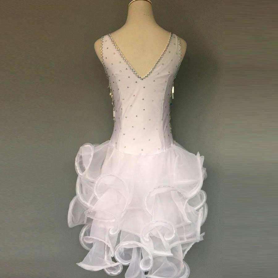 Gaya baru tari latin kostum, Batu seksi payet gaun dansa latin untuk - Kostum panggung dan pakaian tari - Foto 3