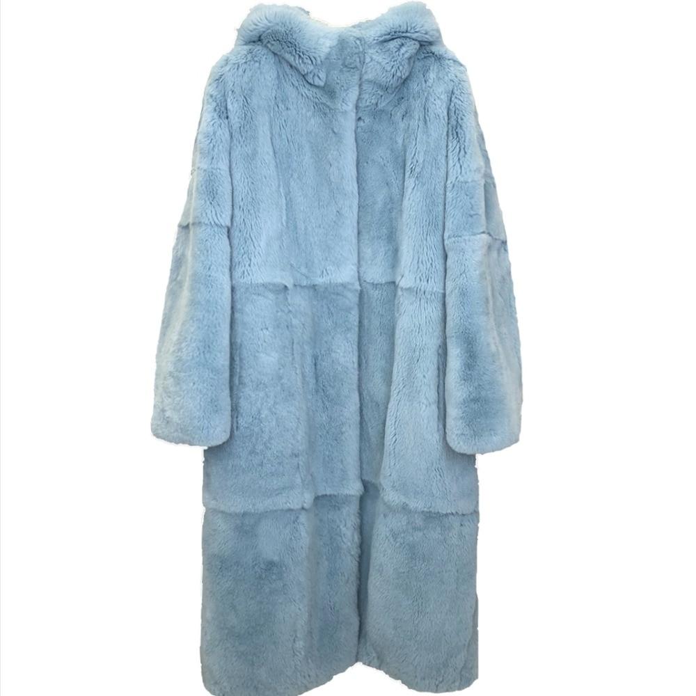 Or Soft Npi 90122d Fourrure De Naturel Mode Conception Touch Lapin Femmes Veste Lâche Rex Ciel pu Hiver Réel Chaude D'hiver Manteau Épaisse TAUHnqOH