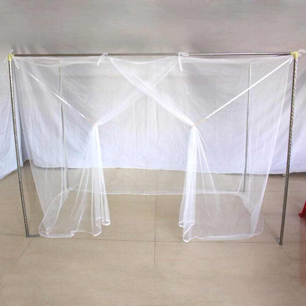 1PC Moustiquaire Canopy White Four Corner Post Student Canopy Bed Mosquito Net Netting Queen King Twin Size