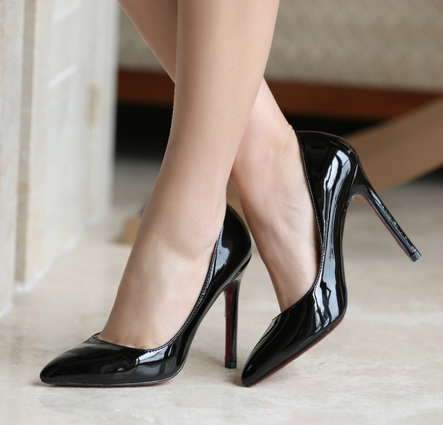 2016 women high heels plus size 34 42 10 11 sexy bride pointed toe high heels shoes nude black. Black Bedroom Furniture Sets. Home Design Ideas