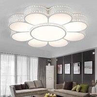 Flower LED Ceiling Lamp Living Room Lamp Modern Crystal Snuff Shaped Hall Bedroom Lamp Creative Restaurant