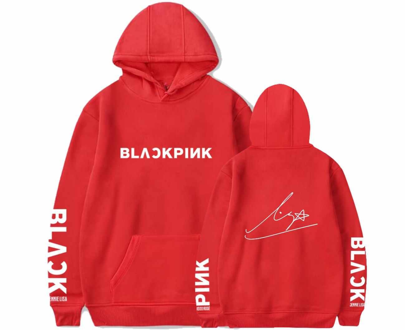 Новая Мода Kpop черная розовая толстовка с карманом корейские пуловеры фанатов Толстовка для женщин и мужчин с именами членов группы одежда с принтом Moletom