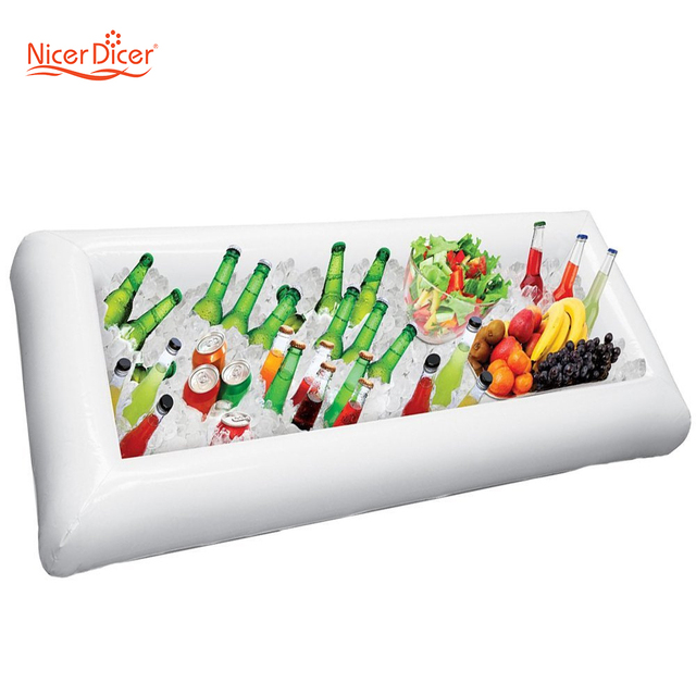 Summer Party Inflatable Salad Bar Buffet Ice Bucket Outdoor Swimming Pool Decoration Food Supplies Toy Fun