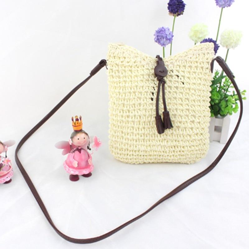 Chic Woven Shoulder Bags Straw Summer Women Weave Crossbody Beach Handbag Female Bag Women Messenger Bags in Shoulder Bags from Luggage Bags