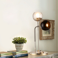 Simple post-modern double headed glass living room study bedroom desk lamp industrial LED office Table Lamps LO71810