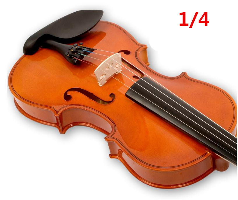 V102 High quality Fir violin 1/4 violin handcraft violino Musical Instruments accessories electric spruce violin 1 4 violin handcraft violino musical instruments with pickup violin rosin case violin bow