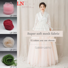 3m Nylon High-grade mesh sand cloth Color soft yarn encryption lace fabric transparent handmade DIY clothing