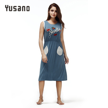 Yusano Women s Nightgowns Modal Cute Sleeveless Night Dress Pockets Hollow Back Nightshirt Casual Home Wear