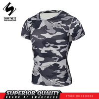 New 2017 Fashion Lead The Tide Short Sleeved Tights Men Sports Fitness Wear Cool Outdoor Camouflage
