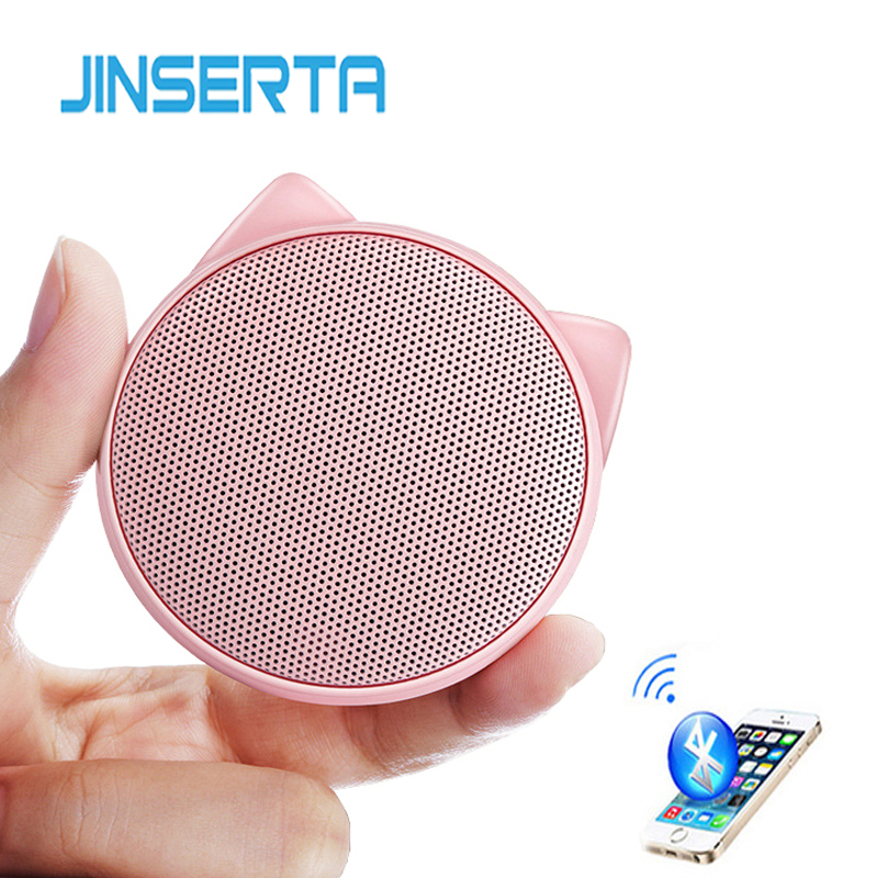 JINSERTA Mini <font><b>Cat</b></font> <font><b>Bluetooth</b></font> <font><b>Speaker</b></font> Portable Wireless with Mic Handsfree Call Music Player for iPhone Samsung Smartphone image