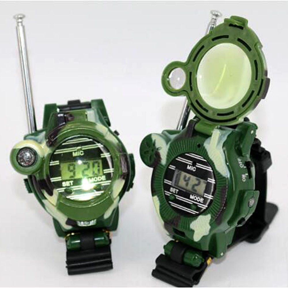 Compass Watch Gift Parent-Child Children's Luminous 7-In-1 Interactive-Toy 1-Pair Magnifying-Glass