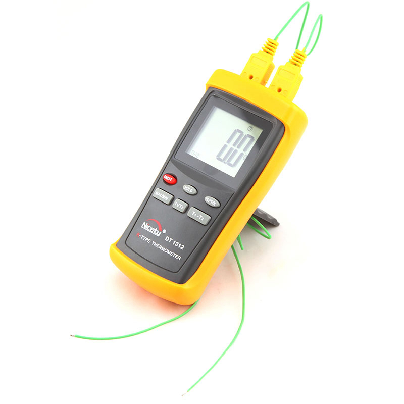 -200~1370C K-Type Thermocouple Thermometer Industrial Pyrometer LCD Handheld C/F/K Temperature Meter With Two Sensor Probe 100 85cm wre 230 e type fabricated thermocouple industrial temperature sensor with screw