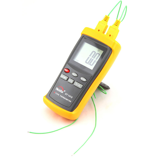 2001370C K Type Thermocouple Thermometer Industrial Pyrometer LCD Handheld C F Temperature Meter With Two Sensor Probe In Instruments From