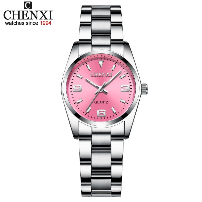 CHENXI relojes mujeres moda marca de lujo vestido de pulsera cuarzo reloj analógico reloj para mujer elegante Relogio Feminino