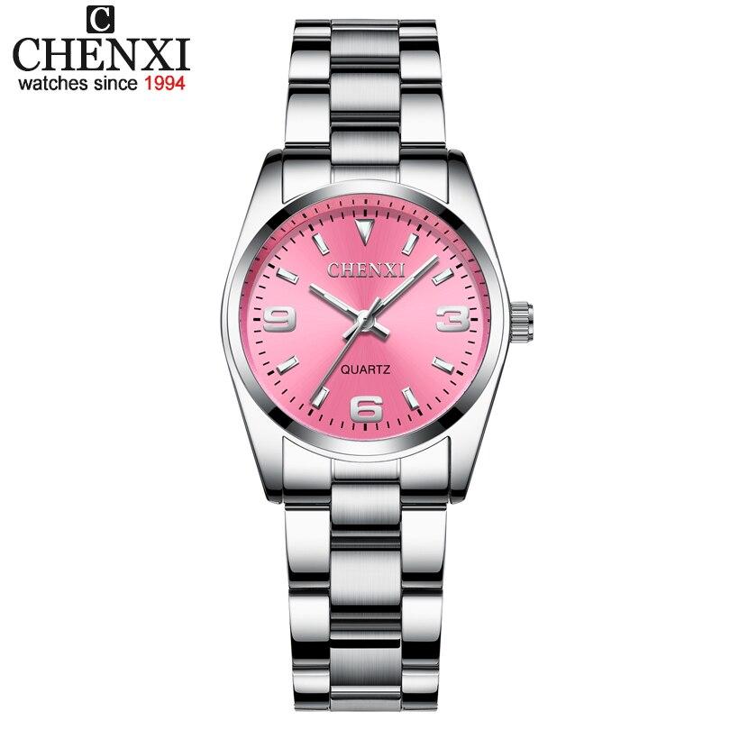 CHENXI Relógios Das Mulheres Da Forma Das Senhoras Vestido De Marca de Luxo Relógio Quratz Analógico Relógio de Pulso para a Mulher Elegante Relógio Feminino