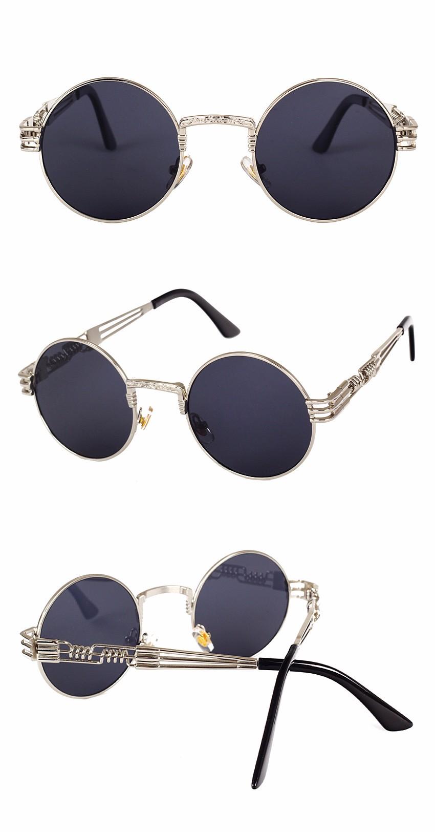 Peekaboo retro steampunk gótico do vintage espelho óculos de sol de ... 4d47375875