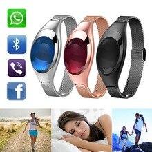 Леди Z18 Bluetooth Smart запястье 2 часы cicret браслет крови кислородом Давление монитор сердечного ритма для Android Apple Сяо Ми
