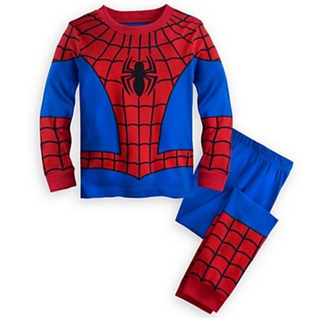 2019 spring autumn baby boy clothes set Spiderman Batman Superman Kids pajamas sets long sleeve tops+pants Child Clothing set 4