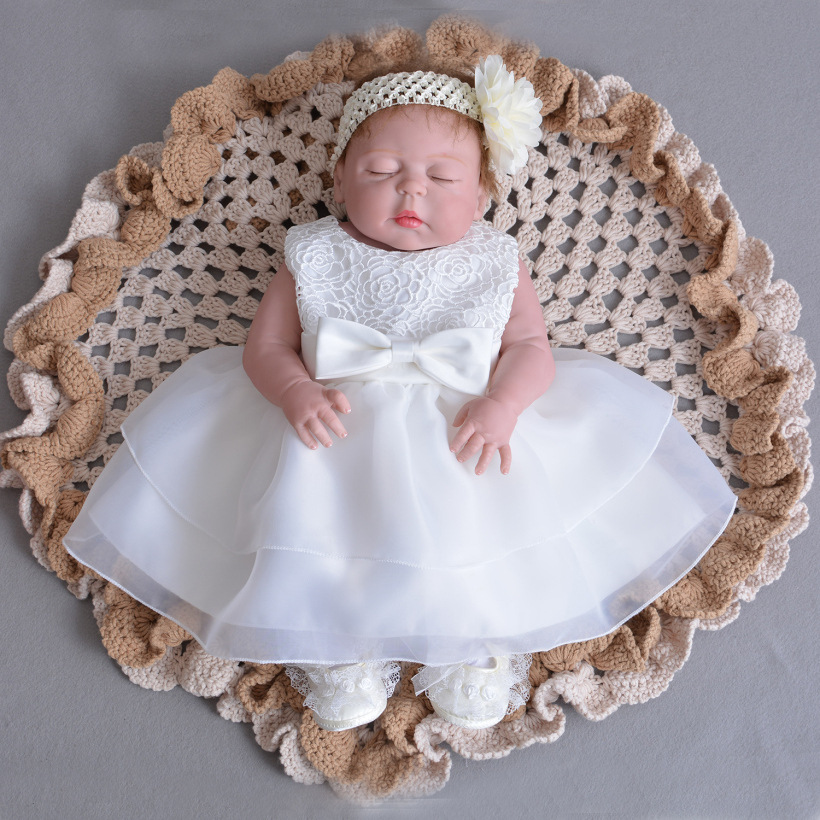 22 inch New Bonecas Reborn Baby Doll in Princess Dress of Baby Reborn Com Corpo de Silicone Menina Luxury Doll Collection Gifts disney princess brass key 2003 holiday collection porcelain doll snow white