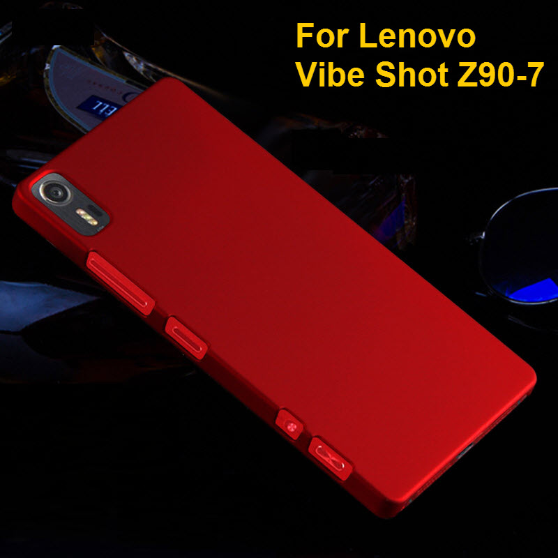 Oil-coated Rubber Matte Plastic Phone <font><b>Cases</b></font> <font><b>For</b></font> <font><b>Lenovo</b></font> Vibe Shot Z90 Z90-7 <font><b>Z90a40</b></font> Z90-3 Vibe Max 5.0 inch Covers Housing Shell image