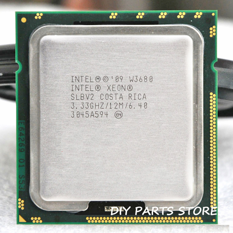 INTEL XONE W3680 SIX core 3.33 MHZ LeveL2 8M 4 core Turbo Frequency 3600 WORK FOR lga 1366 montherboard image