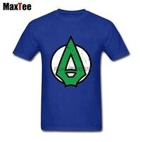 TV Comic Green Arrow Logo T Shirt For Men Tailored Short Sleeve Crewneck Cotton Big Size