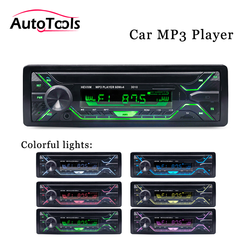 Stereo-Player Car-Audio-Accessories Phone Bluetooth MP3 AUX-IN 12V Din/remote-Control