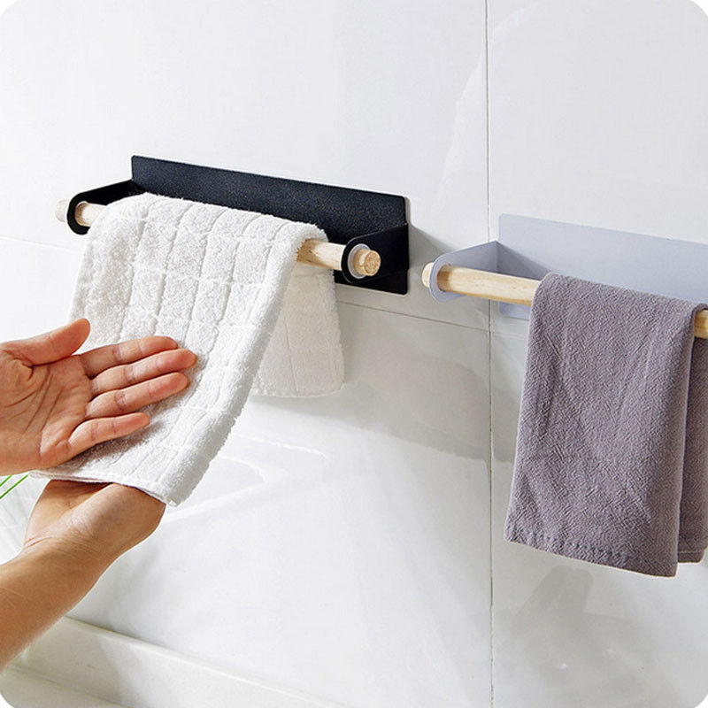 Permalink to Over Door Towel Rack Bar Hanging Holder Bathroom Kitchen Cabinet Storage Shelves Brand New