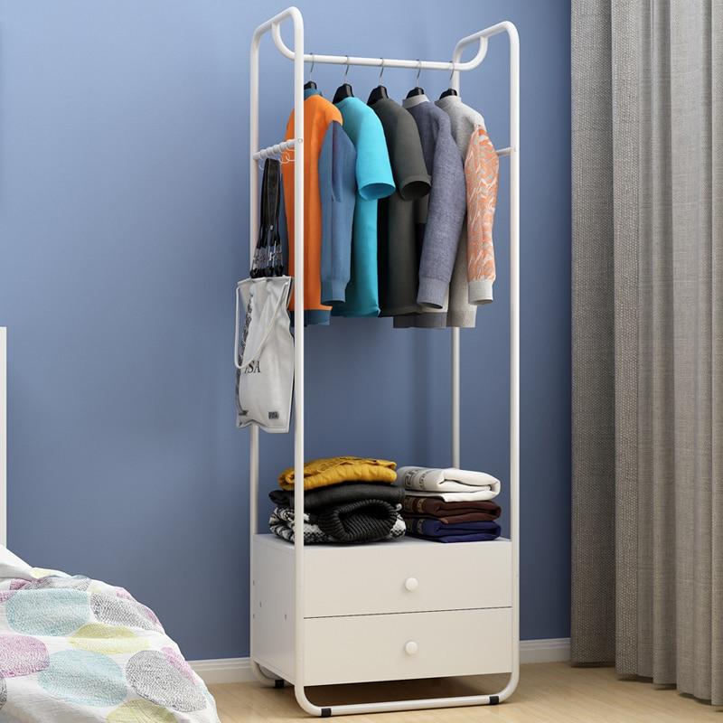 Creative hanger floor bedroom coat rack simple clothes - Bedroom furniture for hanging clothes ...