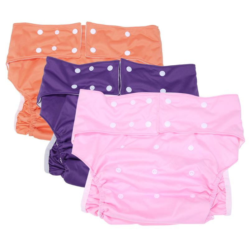 Adult Washable Adjustable Cloth Diaper for Incontinence Printed Cloth Free Size Diapers Unisex Summer Autumn Diapers Nappy