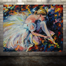 Large Hand Painting Ballet Girl Palette Modern Knife Oil Painting On Canvas Wall Picture For Living Room Home Decor Unframe