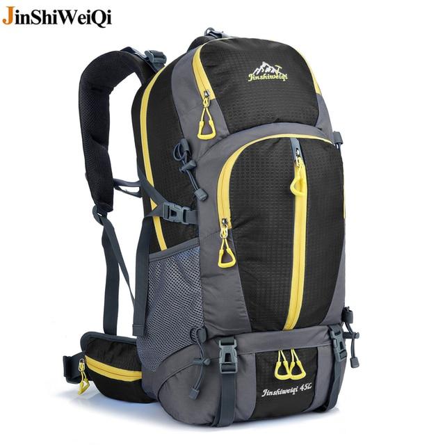 Outdoor Hiking Backpack Waterproof Camping Bags Sport Climbing Backpacks  External Frame Travel Cycling Bag Rucksack 45L d4115a092d