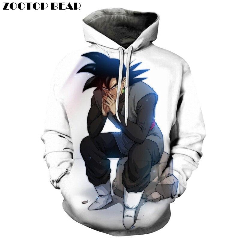 White Goku 3D Print Hoodie Unisex Tracksuit Men Women Sweatshirts Streetwear Pullover Dragon Ball Top DropShip  ZOOTOP BEAR