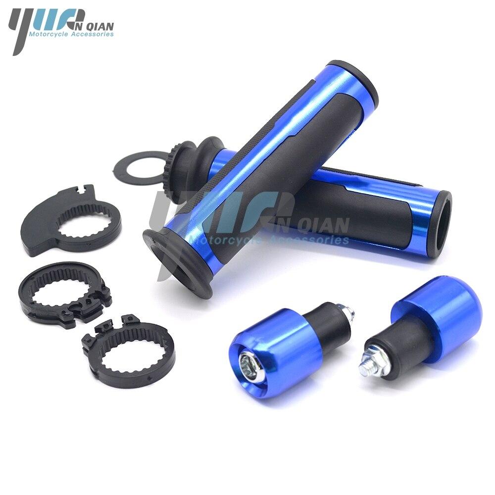 BLUE Universal 7//8 22mm Motorcycle Handlebar Grip For Yamaha YZF R1 R6 R125 R6S R25 R3 600R